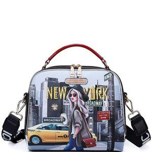 Nicole Lee New York Walk Print Crossbody Shoulder